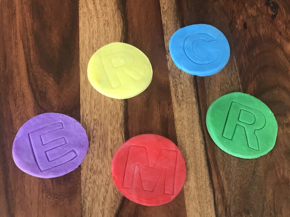 Colorful coasters from 10 décor items made with air dry clay